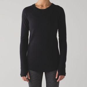 Lululemon black Sit in Lotus sweater